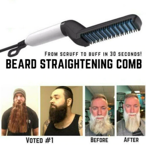 Quick Beard Straightening Comb - Hair Styler