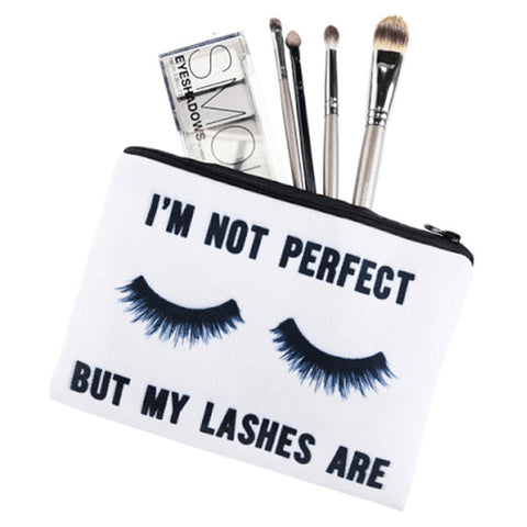 I'm Not Perfect But My Lashes Are Makeup Bag