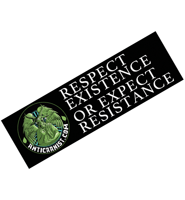 NEW! 'Respect Existence or Expect Resistance' Removable Car Sticker