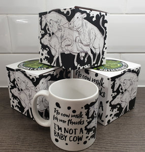 'I'm Not a Baby Cow' Vegan Mug and Gift Box