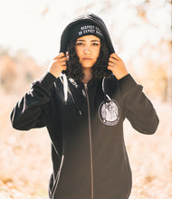 'Not Yours' Black Vegan Zip-up Hoodie