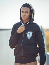 'Here With Us' Black Vegan Zip-up Hoodie