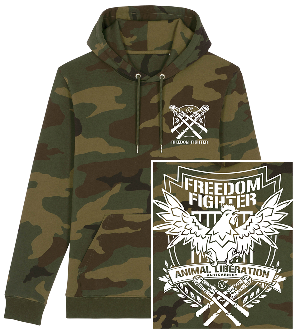 'Freedom Fighter' Pullover Camo Hoodie