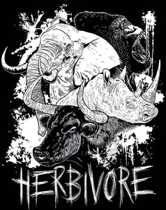 NEW 'Herbivore' Organic Black Vegan T-Shirt