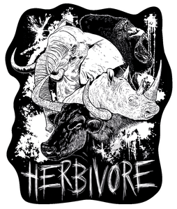 NEW 'Herbivore' Vinyl Sticker