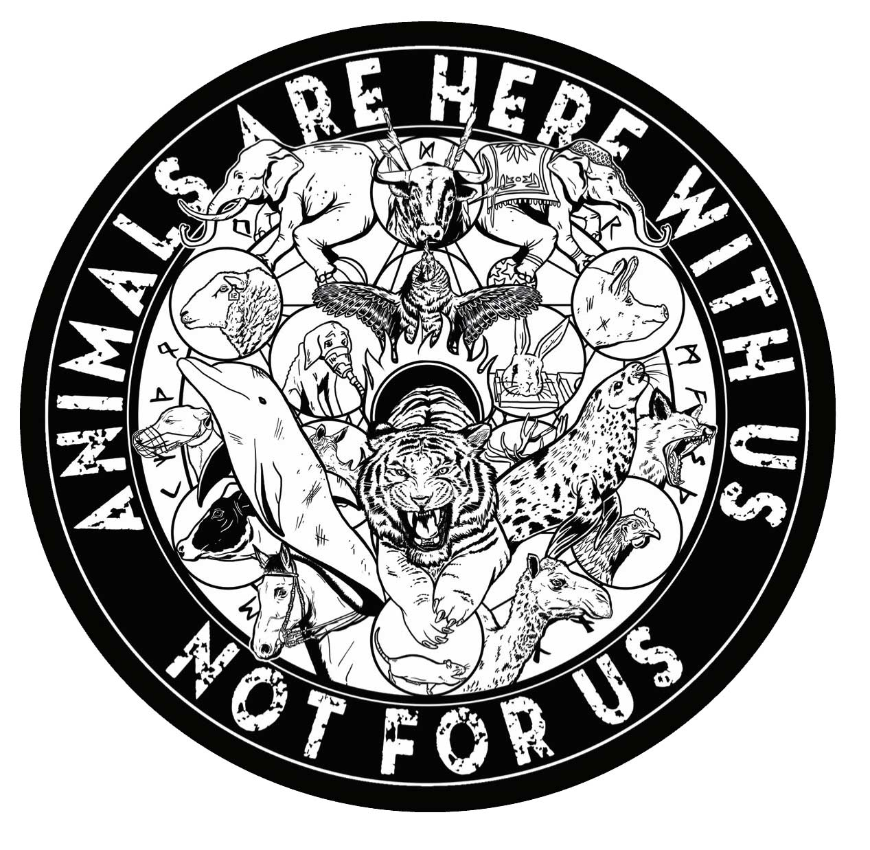 'Here With Us' Vinyl Sticker