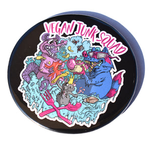 Vegan Junk Squad Pocket Mirror