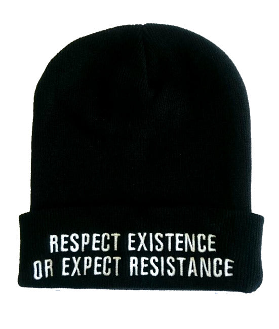 Respect Existence or Expect Resistance Cuffed Beanie