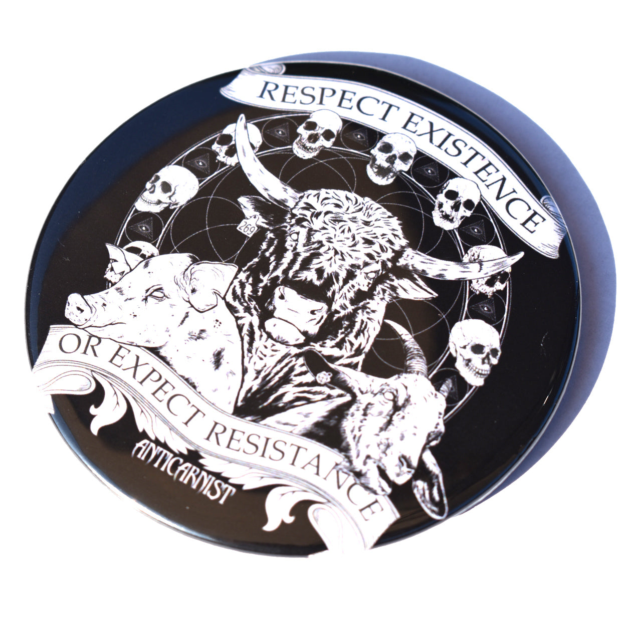 Respect Existence or Expect Resistance Pocket Mirror
