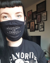 'Respect Existence or Expect Resistance' Recycled Face Mask