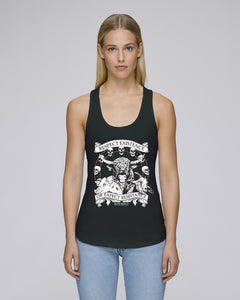 'Respect Existence or Expect Resistance' Women's Fitted Racer Back Tank