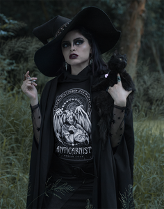 PRE-ORDER 'Anticarnist - Vegan Cult' Organic Black Vegan T-Shirt