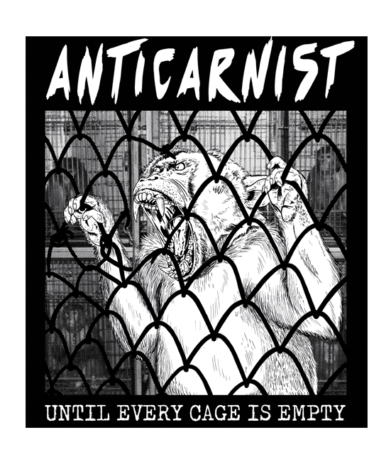 'Until Every Cage Is Empty' Vinyl Sticker
