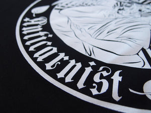 'Anticarnist' Organic Black Vegan T-Shirt