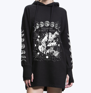 Veganism Is Not A Phase Hoodie Dress