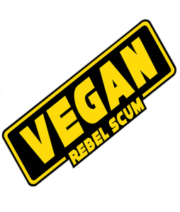 NEW! 'Vegan Rebel Scum' Vinyl Sticker