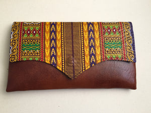 Royalty Leather Kitenge Clutch