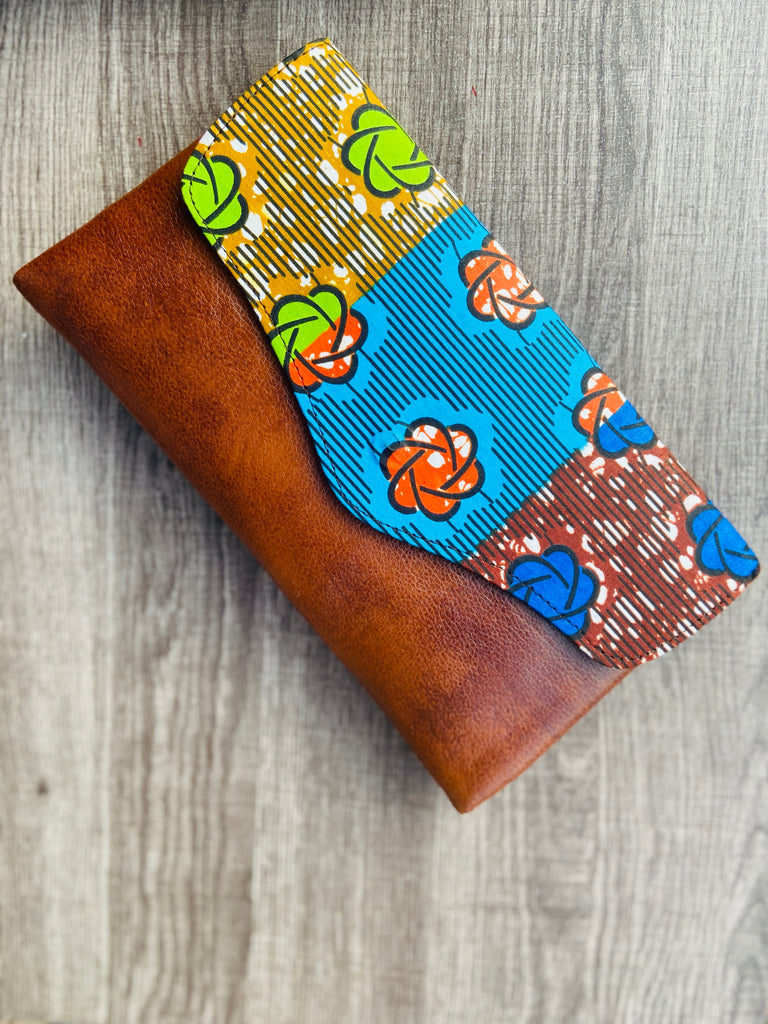 Blue  Kitenge Clutch bag