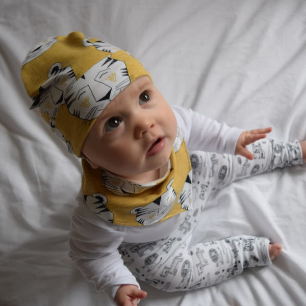 Dribble Bib & Hat - Gold Tigers | KJF Clothing