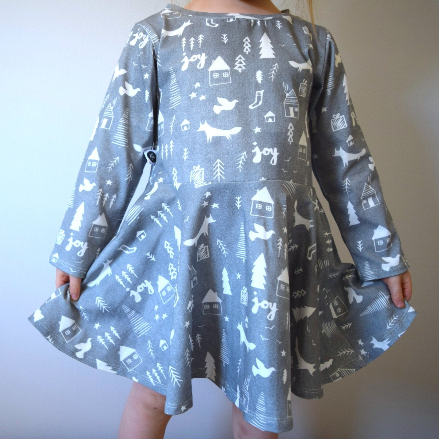 T-Shirt Dress - Winter Woodland 3 | KJF Clothing