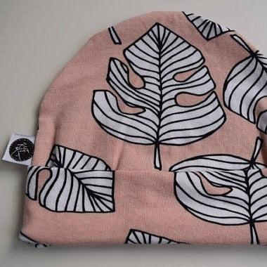 Hat - Pink Leaves | KJF Clothing