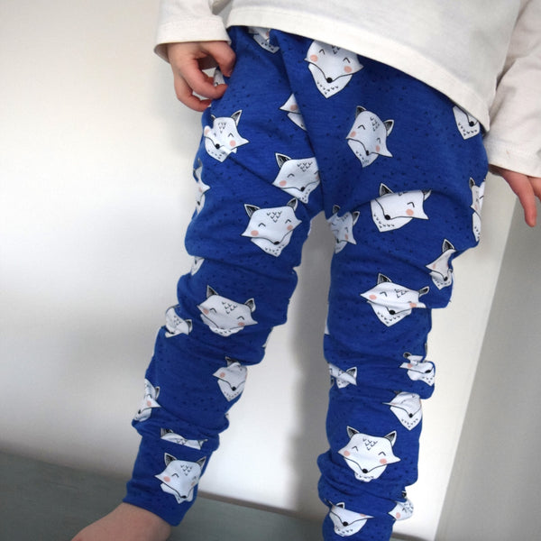 Leggings - Cobalt Blue Foxes 2 | KJF Clothing