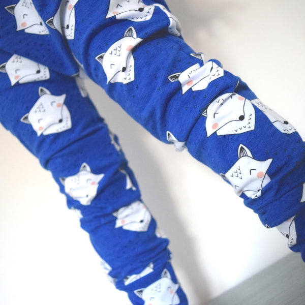 Leggings - Cobalt Blue Foxes 5 | KJF Clothing