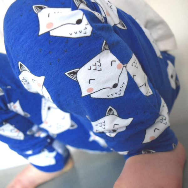 Leggings - Cobalt Blue Foxes 1 | KJF Clothing