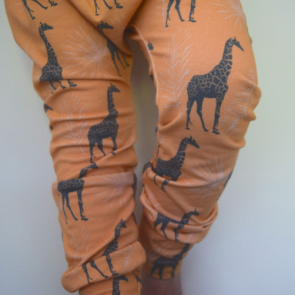 Leggings - Blush Giraffes 5 | KJF Clothing