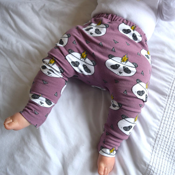 Leggings - Lavender Pandas 10 | KJF Clothing
