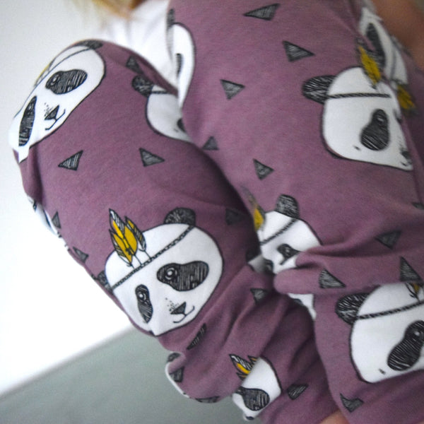Leggings - Lavender Pandas 3 | KJF Clothing