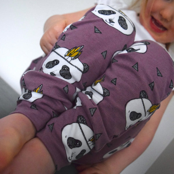 Leggings - Lavender Pandas 4 | KJF Clothing