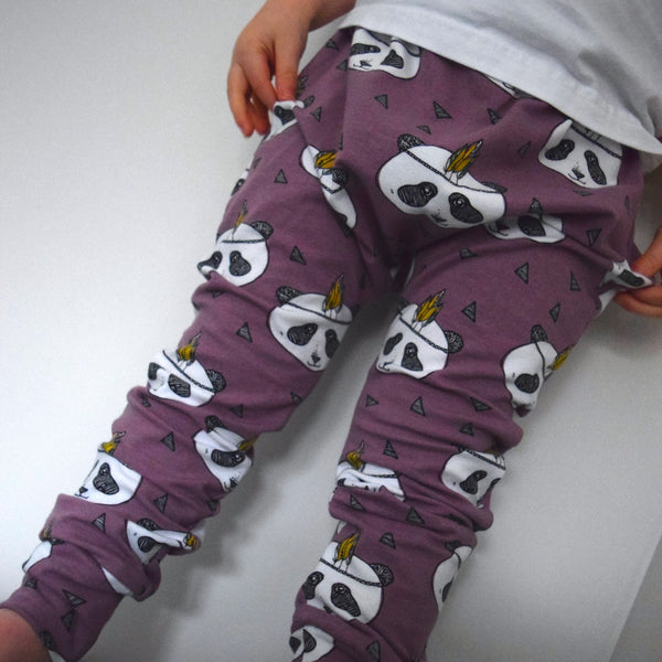 Leggings - Lavender Pandas 6 | KJF Clothing