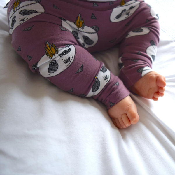 Leggings - Lavender Pandas 8 | KJF Clothing