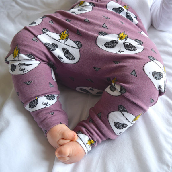 Leggings - Lavender Pandas 9 | KJF Clothing