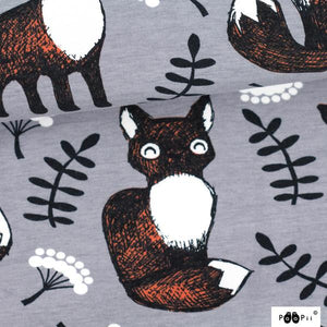 Fabric - Grey Nuutti Foxes