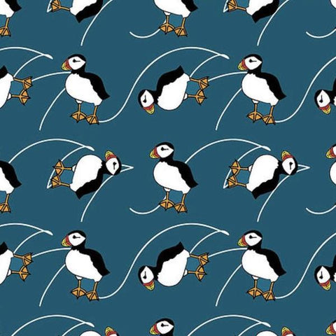 Fabric - Puffins