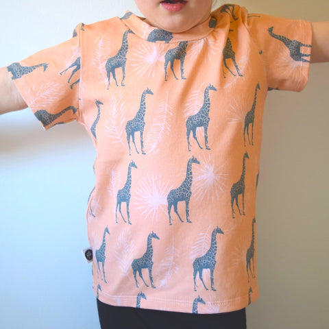 T-Shirt - Blush Giraffes 1 | KJF Clothing