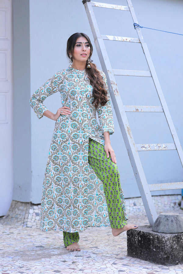 AQUA SAGE GREEN SUIT SET