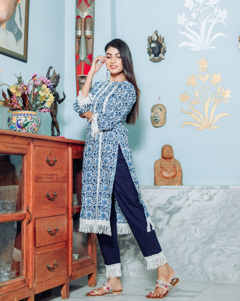 Denim Blue Kurta Set