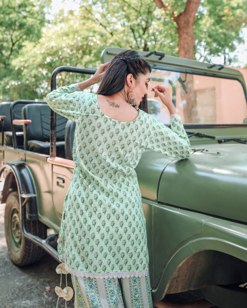 Pista Green Kurta Set