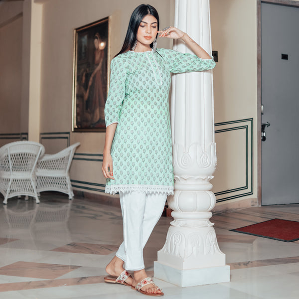 Pine Green Kurta Set