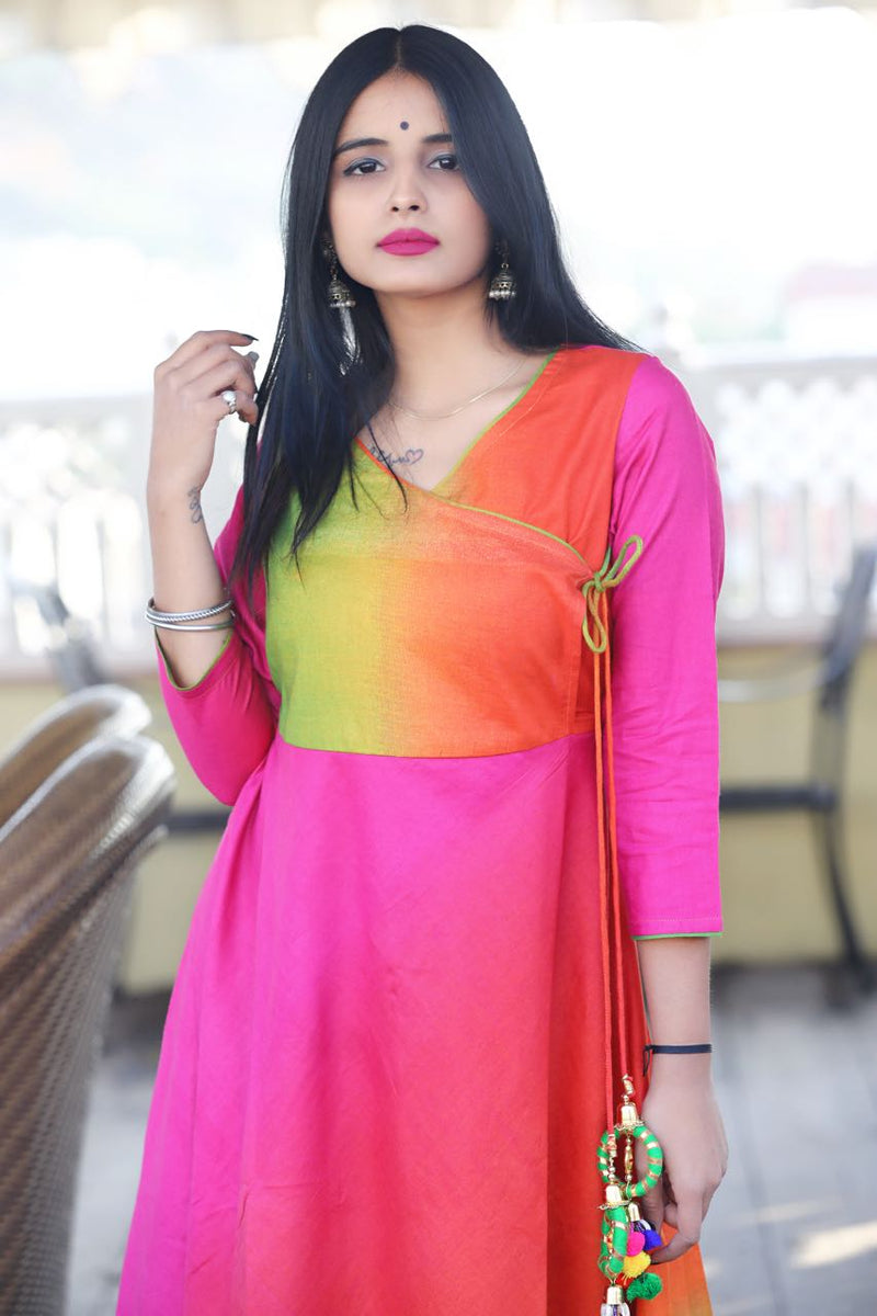 Colourful Angrkha dress - Thread & Button