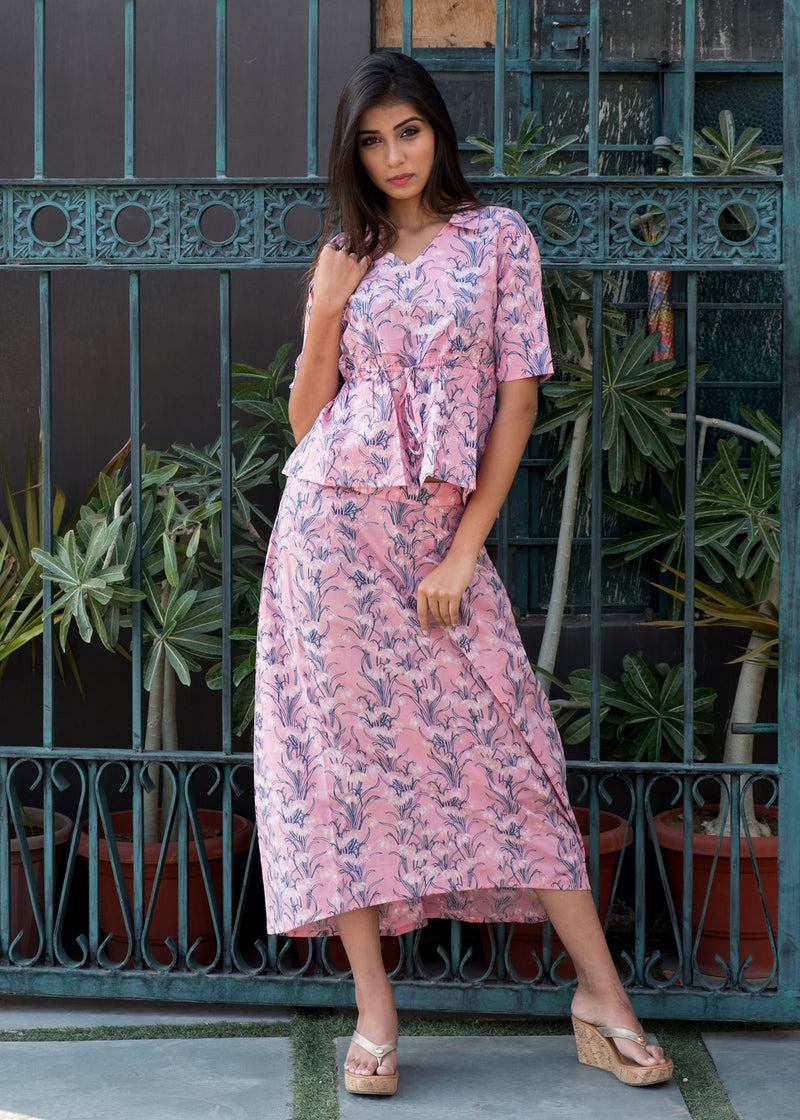 Pink Cotton Thimphu dress - Thread & Button