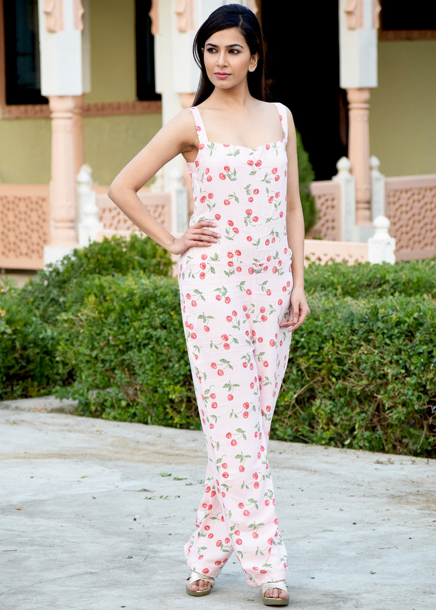 Cherry Pink Jumpsuit