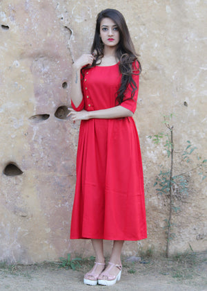 Short red dress - Thread & Button