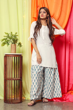 White Pearl Kurta Set