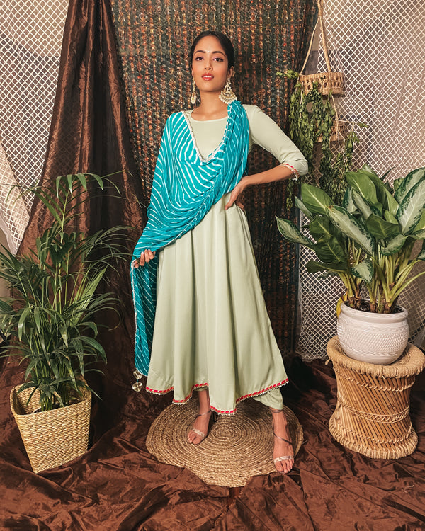 Pista green suit set