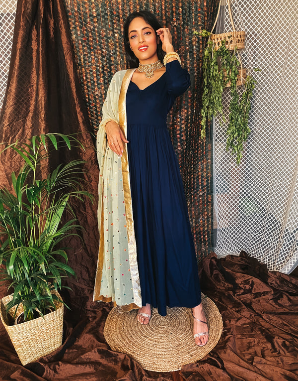 Dream blue kanchli suit
