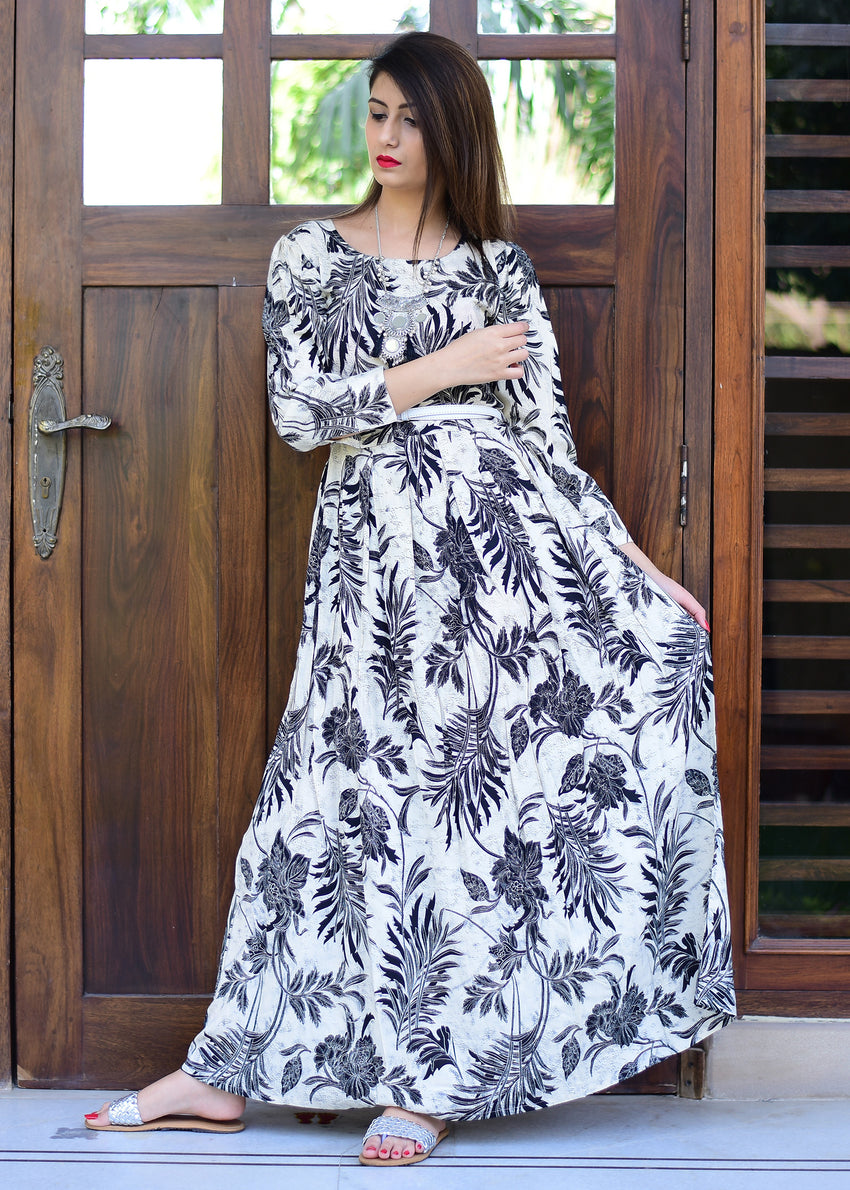 Black and White maxi dress - Thread & Button